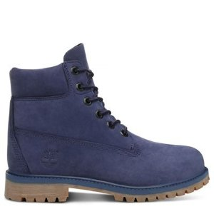 Timberland大童款蓝色靴子