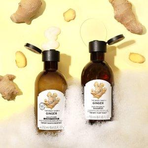 40% Offon Ginger Scalp Care Shampoo @ The Body Shop