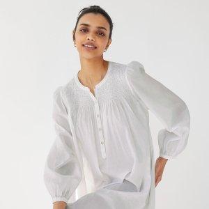 低至3折+免邮上新:Aritzia 季末大促 格纹衬衫$19,封面褶皱衬衫裙$73