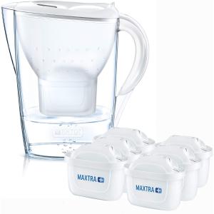 有效过滤水中杂质  必备良品史低价:Brita 过滤水壶+ 6个滤芯好价持续  半年套装热卖