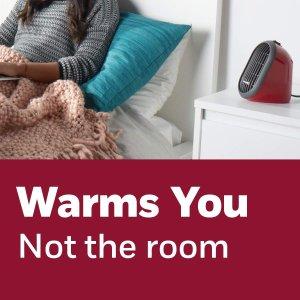 红色款仅$19.99Honeywell HCE100RCD1 电取暖器热卖 迷你便携又安全