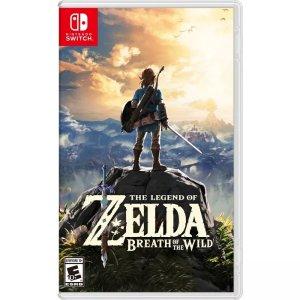 Nintendo店内购买塞尔达传说 荒野之息 Switch 实体版