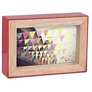 (4) 相框:Amazon.com: Umbra Fotoblock Picture Frame, 4 by 6-Inch, Red: Home & Kitchen