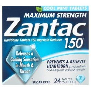 Zantac 150 抗酸药片,雷尼替丁150mg, 24ct