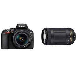 $578 (原价$958.86)史低价:Nikon 尼康 D3500 DX  + 18-55mm + 70-300mm 双镜头套装