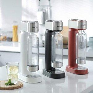 低至7折 €69.99收黑色款飞利浦 Philips Go Zero 气泡水制作套装热卖 自制碳酸饮料