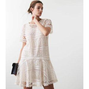 Reiss白蕾丝连衣裙