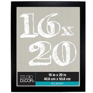 Studio DecorBlack Belmont 木质相框黑色16X20