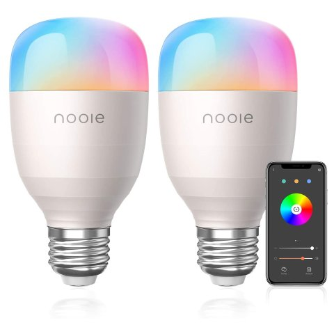 Nooie E26 Multicolor WiFi Smart LED Bulbs 2-Pack