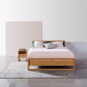 Bruno Queen Size Bed Frame 实木床