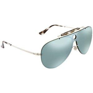 a5d8c07419e Blaze Shooter Dark Green Silver Mirror Aviator Sunglasses RB3581N 003 30  Blaze Shooter Dark