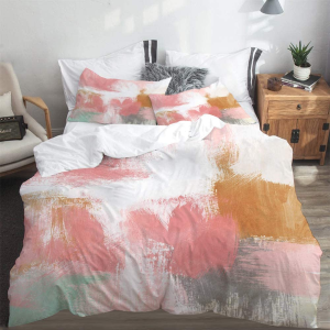 双人大床尺寸€54.99Yaoni 高品质床品套装 被罩+2个枕套 颜值高质量好