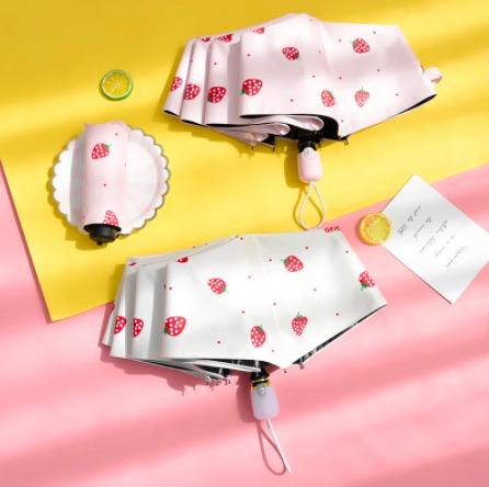 草莓自动遮阳伞