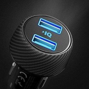 现价£7.99(原价£29.99)Anker 轻便型 24W 2 USB接口 车载充电插头
