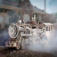 ROKR 3D 木质拼搭火车头