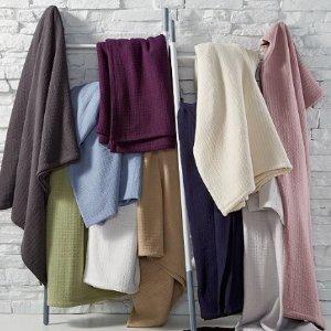 $17.99起 比黑五还低!Lauren Ralph Lauren 经典100%纯棉盖毯 多色多尺寸可选