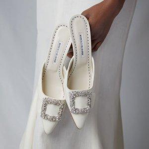 无门槛6折 收方扣高跟$891Manolo Blahnik 轻奢美鞋闪促 收钻扣、方扣、穆勒高跟鞋