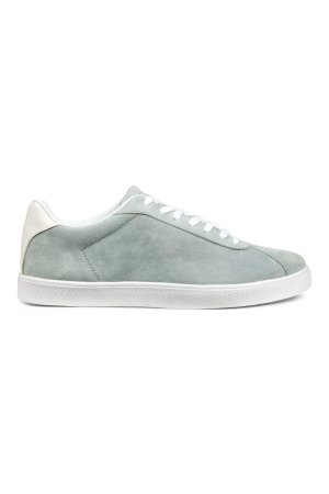 Suede Sneakers | Light gray | SALE | H&M US