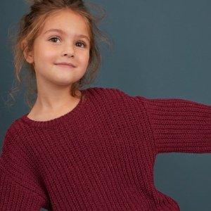 9折H&M 儿童超美服饰、鞋履上新 合作款新品更时尚