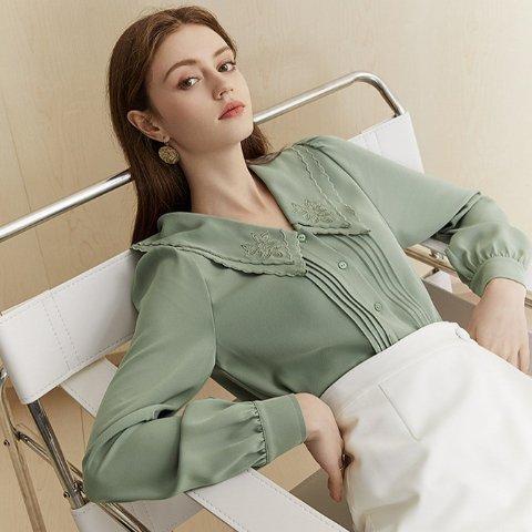 低至5折+额外8.5折+晒单免单独家:Ecru Emissary 全场热卖 收时髦真丝衬衫,新款参加