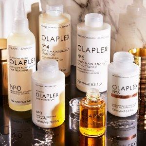 无门槛7.5折+送正装精华Olaplex 美国沙龙护发 漂染烫修复神器 卡戴珊也在用