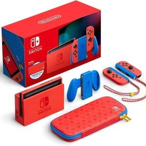 $399.99 包邮上新:任天堂 Switch 新品 马里奥红蓝主机  限定版游戏机