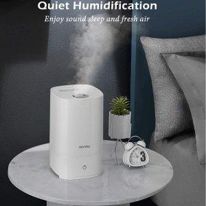 $41.99(原价$65.99)闪购:Homasy 4.5升大容量静音超声波加湿器 三级雾化强度