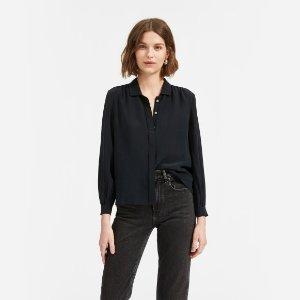 EverlaneThe Shirred Silk Shirt