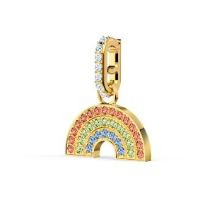 SwarovskiRemix Collection Rainbow Charm, Light multi-colored, Gold-tone plated by