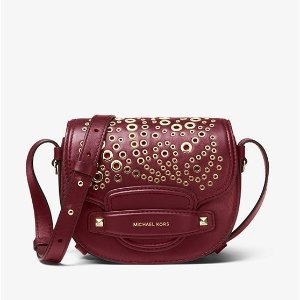 88610d799afc Hottest. Michael KorsCary Small Grommeted Leather Saddle Bag