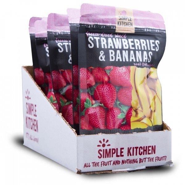 草莓+香蕉冻干 6袋装