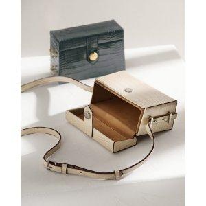 Pedro ShoesCroc-Effect Box Shoulder Bag