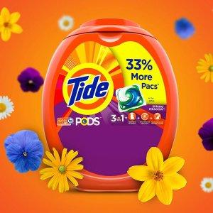 $16.02 (原价$19.99)Tide 汰渍3合1洗衣凝珠 72颗装 牧场花香、无香敏感肌款
