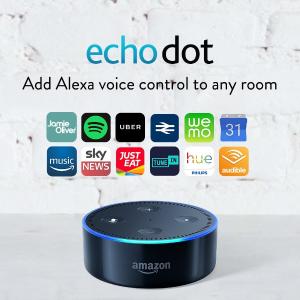 现价£39.99(原价£49.99)Amazon Echo Dot Alexa语音助手蓝牙音箱 2代