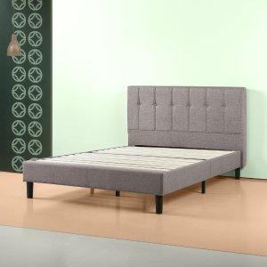 ZINUSvia code SBDBEDS30Brandy Upholstered Vertical Detailed Platform Bed Frame