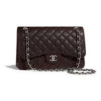 Chanel 大号经典链条包棕色