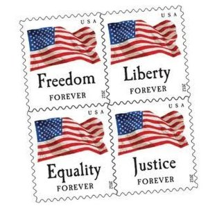 $39USPS Forever Stamps Booklet, Four Flags - 20 count