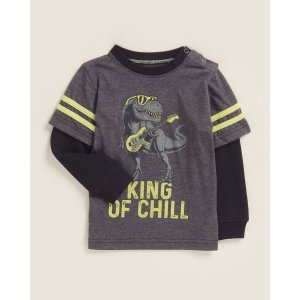 (Infant Boys) King of Chill Double Layer Long Sleeve Tee