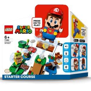 €58.49预定LEGO 乐高 Super Mario新手套装71360 快乐就是这么简单