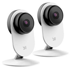 Yi 第三代 1080p AI 智能家庭室内安防摄像头 两只装