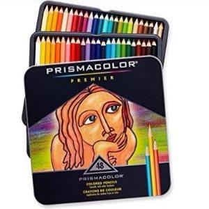 史低价!$27(原价$80.52)Prismacolor Sanford 3598T 48色软芯彩色铅笔