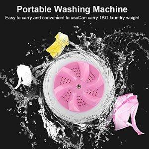用usb连接 可容纳1kg衣物粉色便携超声波清洁器