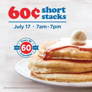 $0.60IHOP Is Offering 3 Pancakes for