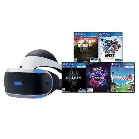 PlayStation VR 套装,含生化7、老滚5、高尔夫VR等5款游戏