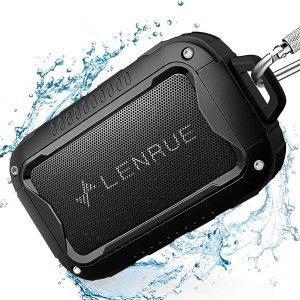 17.49(原价$34.99)LENRUE 防水便携蓝牙音箱 IPX5等级防水