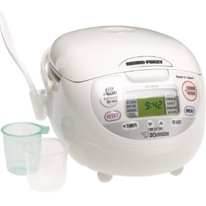 $117Zojirushi NS-ZCC10 5-1/2-Cup Neuro Fuzzy Rice Cooker and Warmer,1.0-Liter