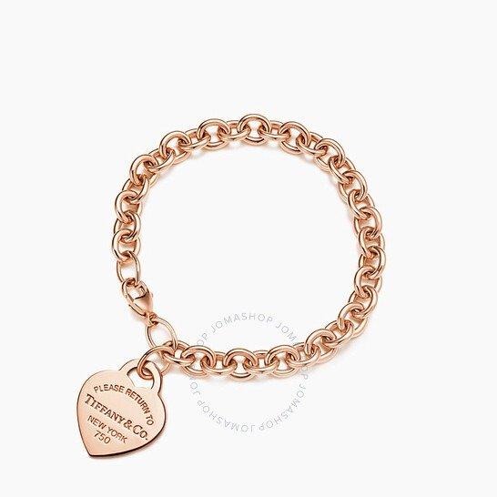 Tiffany Ladies 18k Rose 爱心手链