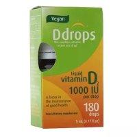 Ddrops Vegan 维生素 D2 1000IU滴剂