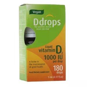 DdropsBuy 1, Get 1 50% OFFVegan Vitamin D2 1000IU