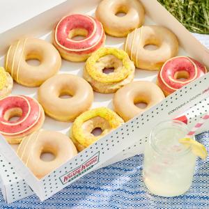 3款柠檬草莓汁 仅限两周上新:Krispy Kreme 4款草莓柠檬味甜甜圈 每打$12.99